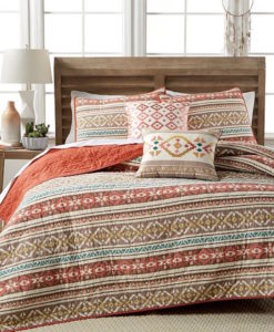 Martha Stewart Silver City Stripe King Quilt SOC 1326