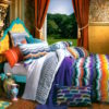 Ascent By Kas Queen Duvet Set SOC 1331