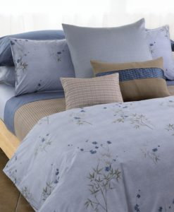 Bamboo Flower Corded Block Coverlet