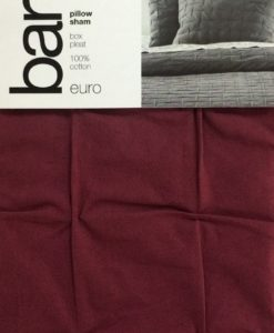 Bar III Wine Box Pleat Euro Sham SOC 406