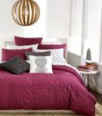 Bar III Box Pleat Wine Twin XL Duvet Cover SOC 980