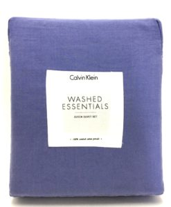 Calvin Klein Washed Essentials Amethyst Queen Duvet Set SOC 1168