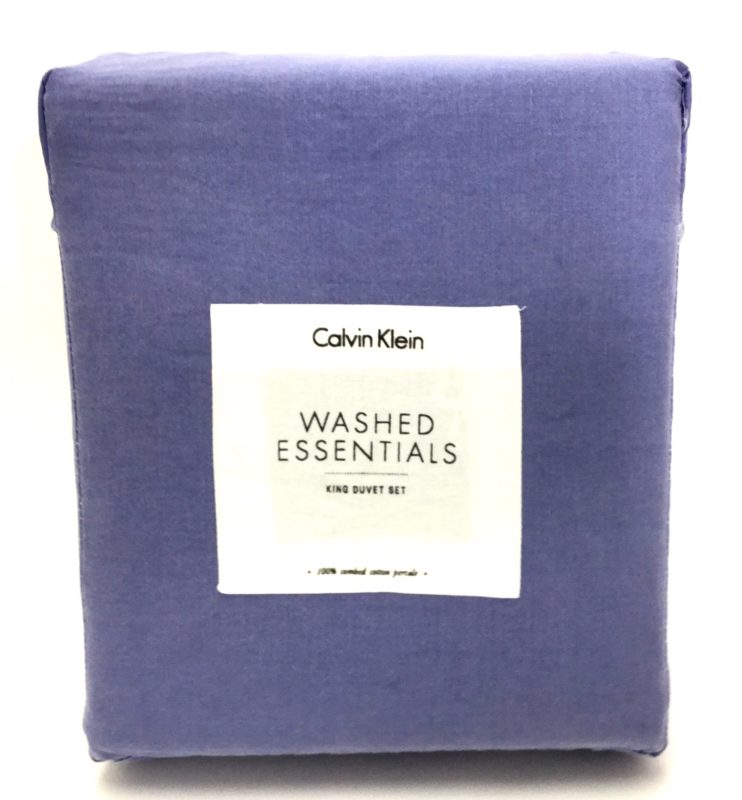 Calvin Klein Washed Essentials Amethyst King Duvet Set SOC 1169