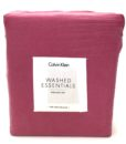 Calvin Klein Washed Essentials Berry King Sheet Set SOC 1189