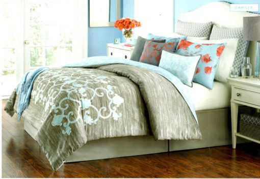 Martha Stewart Camille Queen Comforter Set SOC 1352