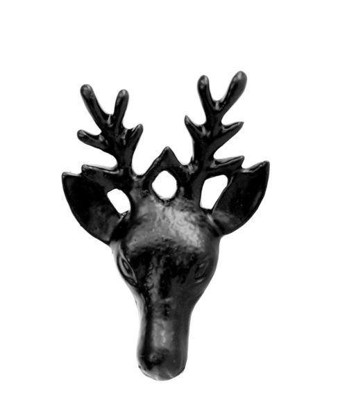 Cast Iron Black Deer Drawer Pull SOC 1150