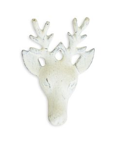 Cast Iron White Deer Drawer Pull SOC 1151