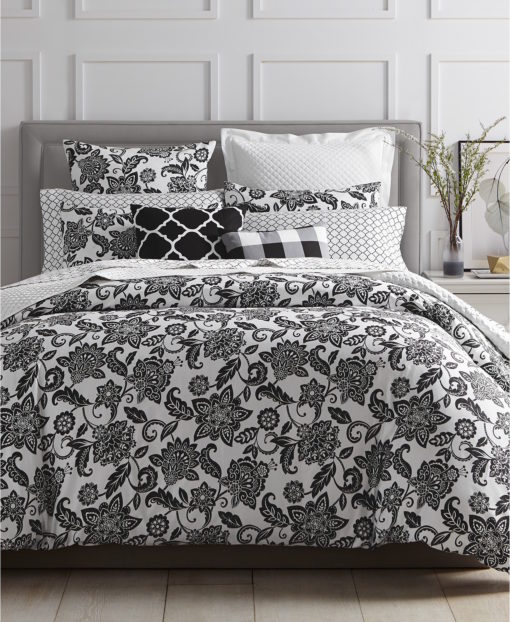 Charter Club Damask Floral King Comforter Set SOC 1347