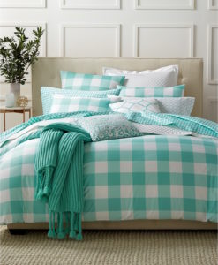 Charter Club Damask Gingham King Duvet Set SOC 1349