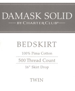 Charter Club Damask Solid Twin Bed Skirt