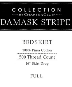 Charter Club Damask Stripe Double Bedskirt