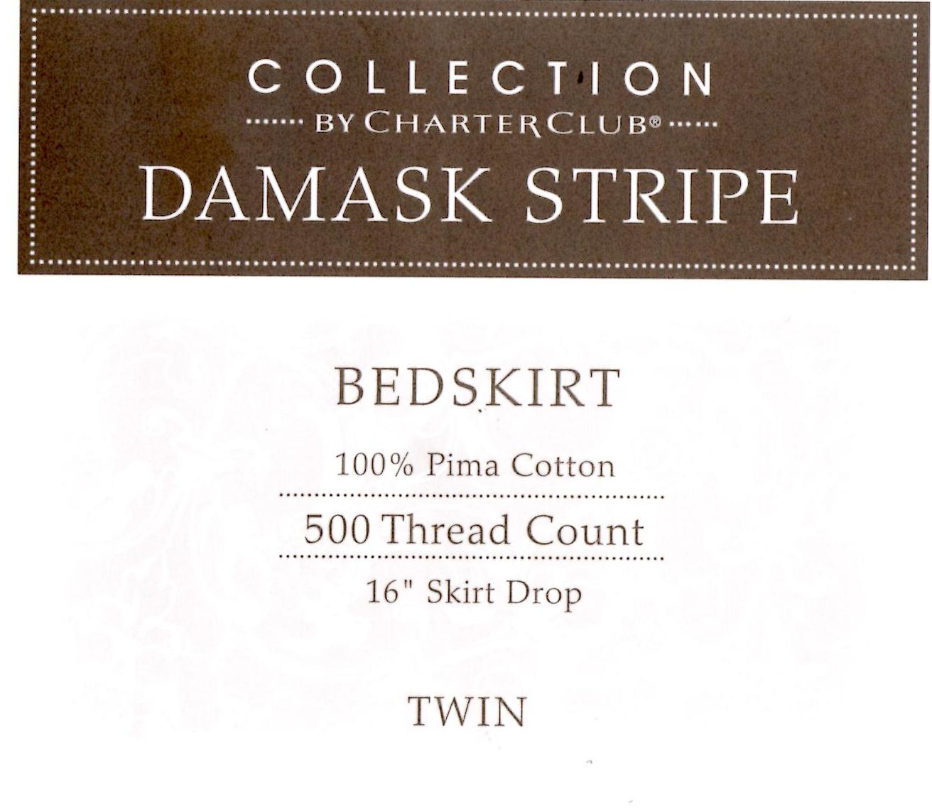 Charter Club Damask Stripe Twin Bedskirt