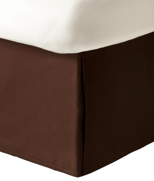 Charter Club Damask Solid Chocolate Twin Bedskirt BS0004