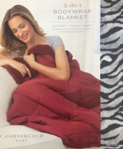 Charter Club 3 In 1 Tiger Print Body Blanket SOC 559