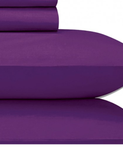 Cotton Sateen Violet King Sheet Set JU009