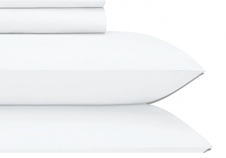 Cotton Sateen White King Sheet Set JU013