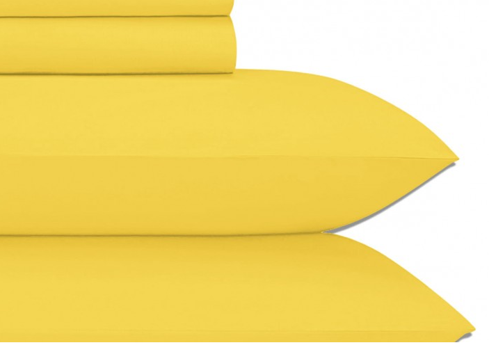 Cotton Sateen Yellow King Sheet Set JU004