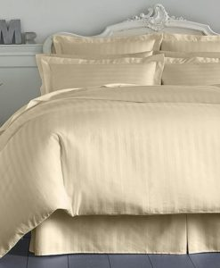 Charter Club Damask Stripe Natural Twin Bedskirt SOC 362