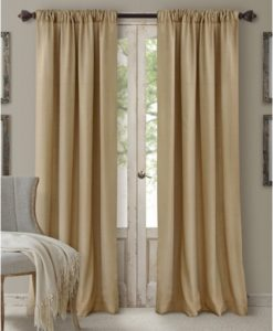 "Elrene Cachet 3 In 1 Window Treatment Collection Caramel 95"" SOC 817"