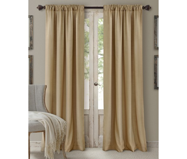 Elrene Cachet 3 In 1 Window Treatment Collection Caramel