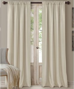 "Elrene Cachet 3-in-1 Window Treatment Collection Ivory 84""L SOC 129"