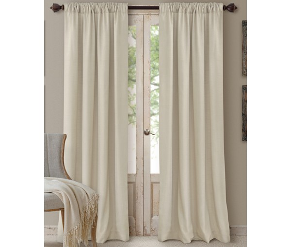 Elrene Cachet 3-in-1 Window Treatment Collection Ivory 84″L SOC 129