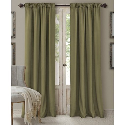 "Elrene Cachet 3-in-1 Window Treatment Collection Glade 108""L SOC 132"