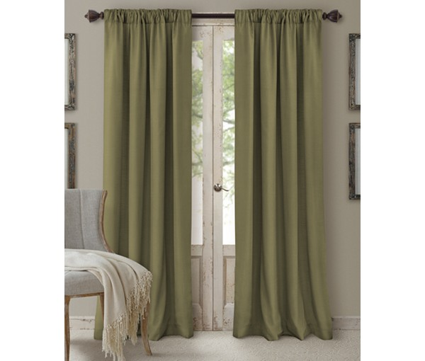 Elrene Cachet 3-in-1 Window Treatment Collection Glade 108″L SOC 132