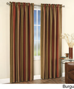 "Faux Silk Stripe Rod Pocket 84"" Curtain Panel SOC 659"
