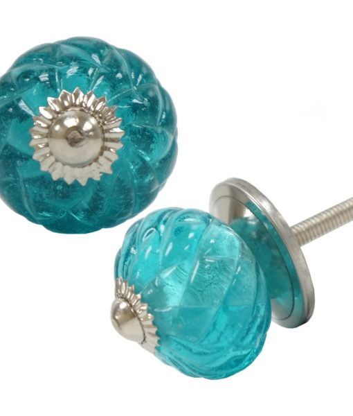 Glass Turquoise Drawer Pull Shop Outlet Canada