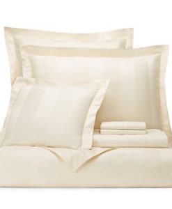Hudson Park Stripe Ivory Queen Duvet Set SOC 1300