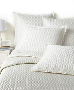 Hudson Park Facets Ivory Silk Blend King Sham SOC 525