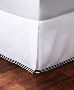 Hudson Park Italian Percale Navy Cal King Bed Skirt SOC 854