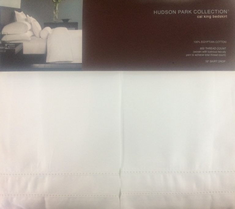 Hudson Park White Cal King Bed Skirt SOC 036