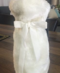 INC Ivory Faux Fur Wine Bag