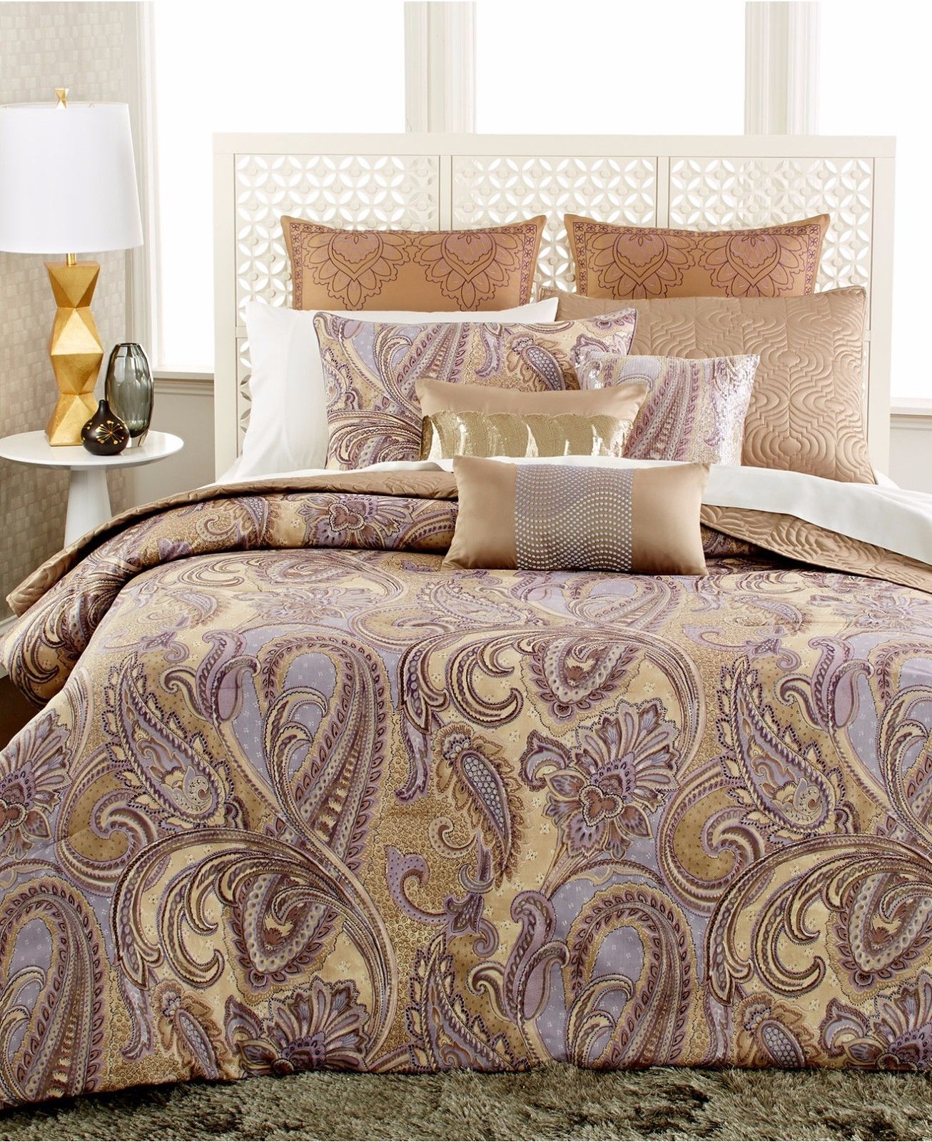 INC Messina Queen 4 Piece Duvet Set SOC 864