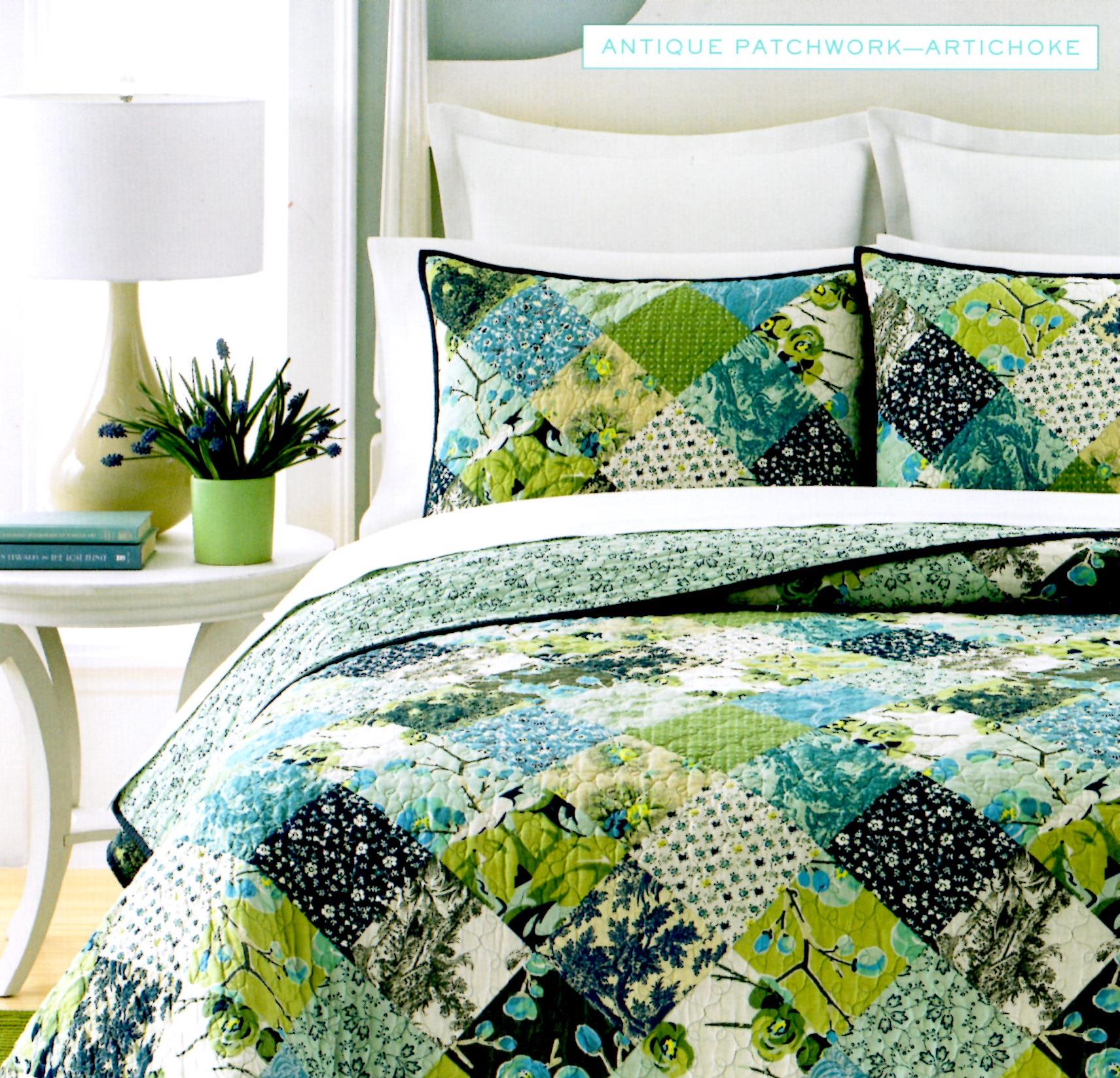 Martha Stewart Antique Patchwork King Quilt SOC 1103