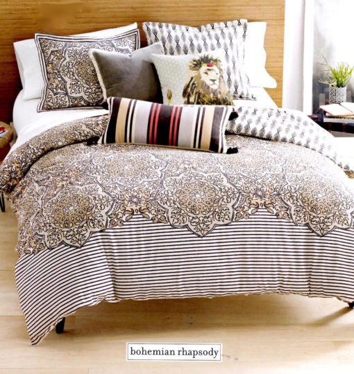 Martha Stewart Bohemian Rhapsody Seashore Tan King Comforter Set SOC 1325