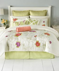 Martha Stewart In Bloom King 9 Piece Comforter Set SOC 216