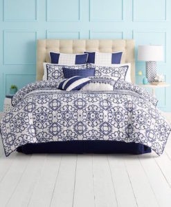 Martha Stewart Lotus Medallion Queen Comforter Set SOC 1246