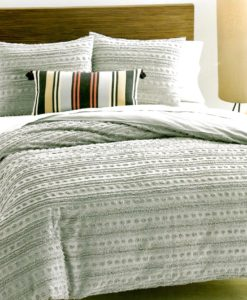 Martha Stewart On The Dot Grey Queen Comforter Set SOC 1319