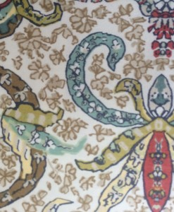 Martha Stewart Ornate Paisley sham pair detail