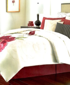Martha Stewart Plum Blossom King Comforter Set SOC 1158