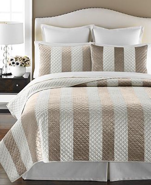 Martha Stewart Siena Stripe Twin Quilt Set Shop Outlet