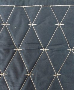 Martha Stewart Solid Diamond Stitch Navy Detail