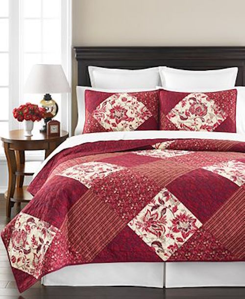 Martha Stewart Somerset Square Twin Quilt Set SOC 1112