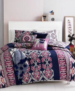 Whim By Martha Stewart Wild Child Queen Reversible Duvet Set SOC 1077