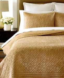 Martha Stewart Diamond Plush Twin Quilt Set SOC 228