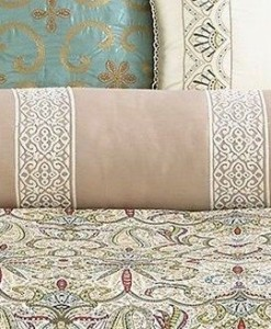 Martha Stewart Ornate Paisley Decorative Neck Roll SOC 015