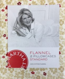 Martha Stewart Winfield Floral Flannel Standard Pillowcase Pair SOC 968